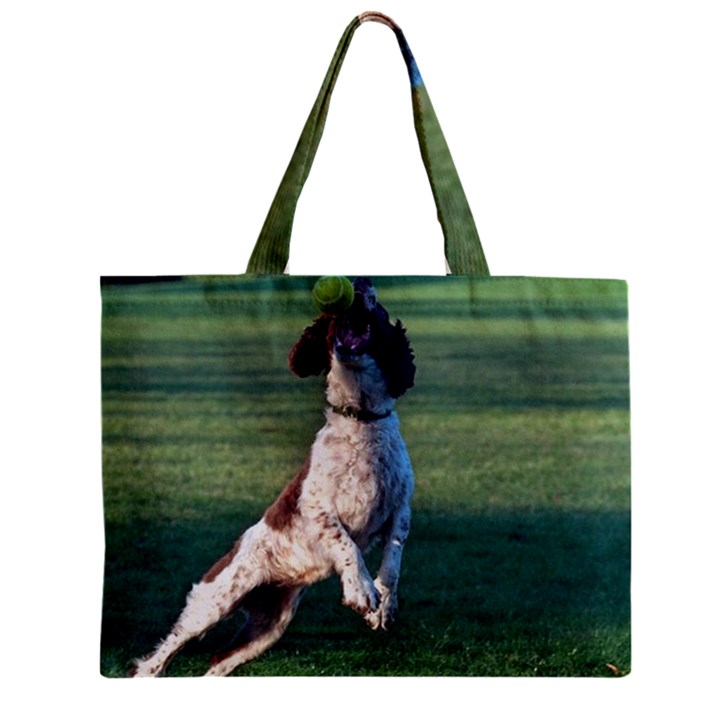 English Springer Catching Ball Zipper Mini Tote Bag