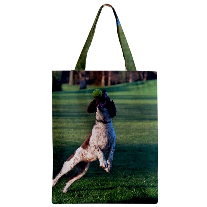 English Springer Catching Ball Zipper Classic Tote Bag