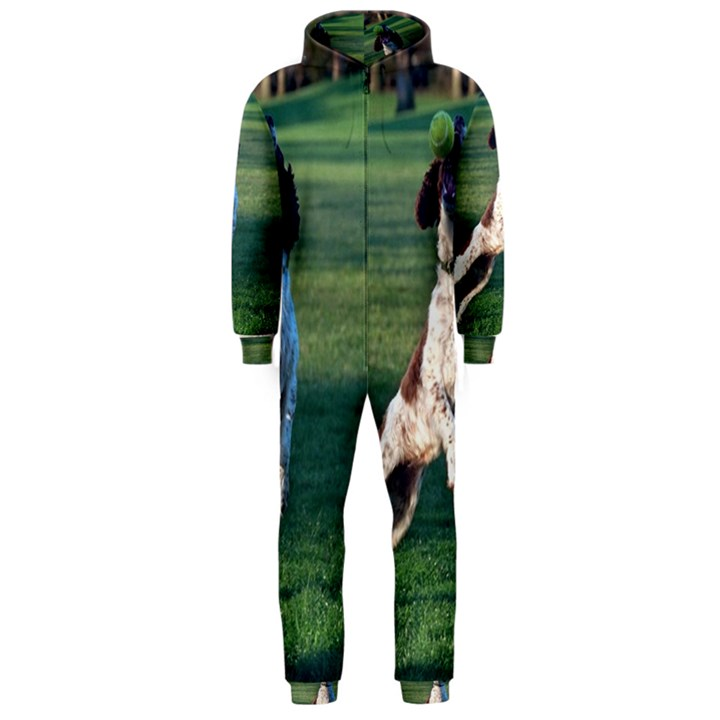 English Springer Catching Ball Hooded Jumpsuit (Men)