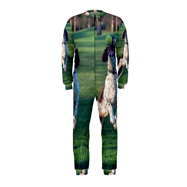 English Springer Catching Ball OnePiece Jumpsuit (Kids)