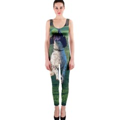 English Springer Catching Ball OnePiece Catsuit