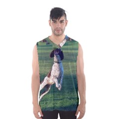 English Springer Catching Ball Men s Basketball Tank Top