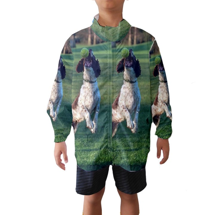 English Springer Catching Ball Wind Breaker (Kids)