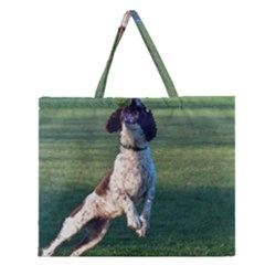 English Springer Catching Ball Zipper Large Tote Bag