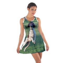 English Springer Catching Ball Cotton Racerback Dress
