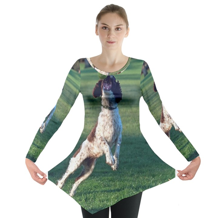 English Springer Catching Ball Long Sleeve Tunic