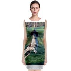 English Springer Catching Ball Classic Sleeveless Midi Dress