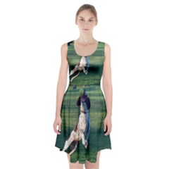English Springer Catching Ball Racerback Midi Dress