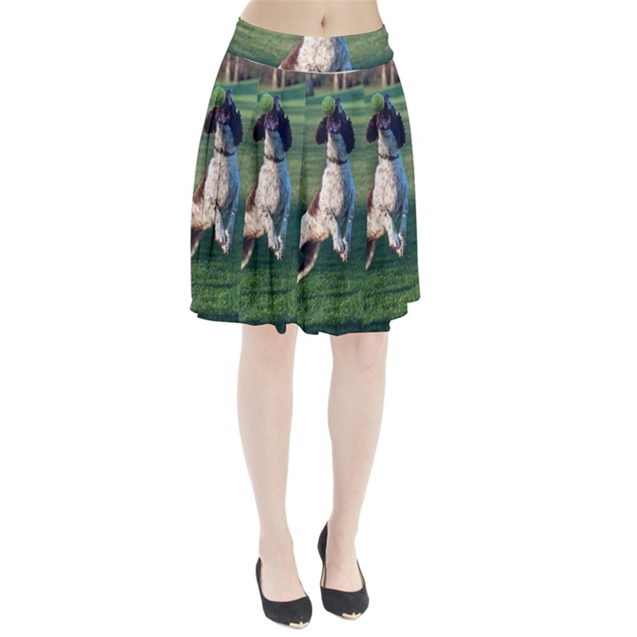 English Springer Catching Ball Pleated Skirt