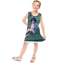 English Springer Catching Ball Kids  Tunic Dress