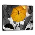 Umbrella Yellow Black White Canvas 20  x 16  View1