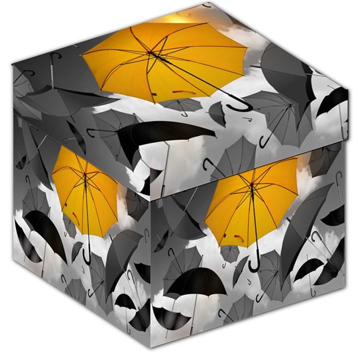 Umbrella Yellow Black White Storage Stool 12
