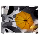 Umbrella Yellow Black White Apple iPad 2 Hardshell Case (Compatible with Smart Cover) View1