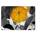 Umbrella Yellow Black White Samsung Galaxy Tab 8.9  P7300 Flip Case View1