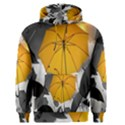 Umbrella Yellow Black White Men s Pullover Hoodie View1