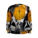 Umbrella Yellow Black White Women s Sweatshirt View1