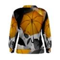 Umbrella Yellow Black White Women s Sweatshirt View2