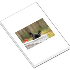 French Bulldog Peeking Puppy Large Memo Pads