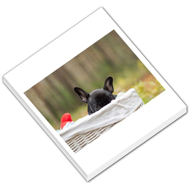 French Bulldog Peeking Puppy Small Memo Pads