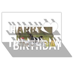 French Bulldog Peeking Puppy Happy Birthday 3D Greeting Card (8x4)