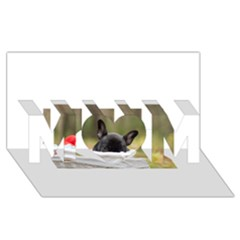 French Bulldog Peeking Puppy Mom 3d Greeting Card (8x4)