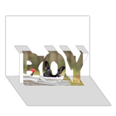 French Bulldog Peeking Puppy BOY 3D Greeting Card (7x5)