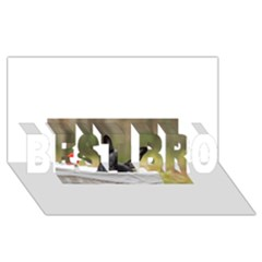 French Bulldog Peeking Puppy BEST BRO 3D Greeting Card (8x4)