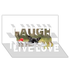French Bulldog Peeking Puppy Laugh Live Love 3D Greeting Card (8x4)