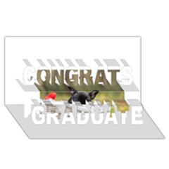 French Bulldog Peeking Puppy Congrats Graduate 3D Greeting Card (8x4)