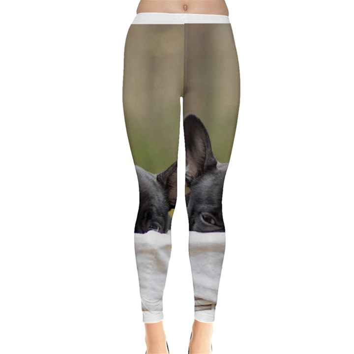 French Bulldog Peeking Puppy Leggings