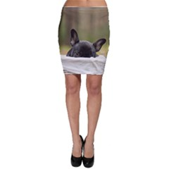 French Bulldog Peeking Puppy Bodycon Skirt