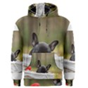 French Bulldog Peeking Puppy Men s Pullover Hoodie View1