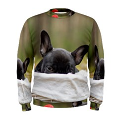 French Bulldog Peeking Puppy Men s Sweatshirt