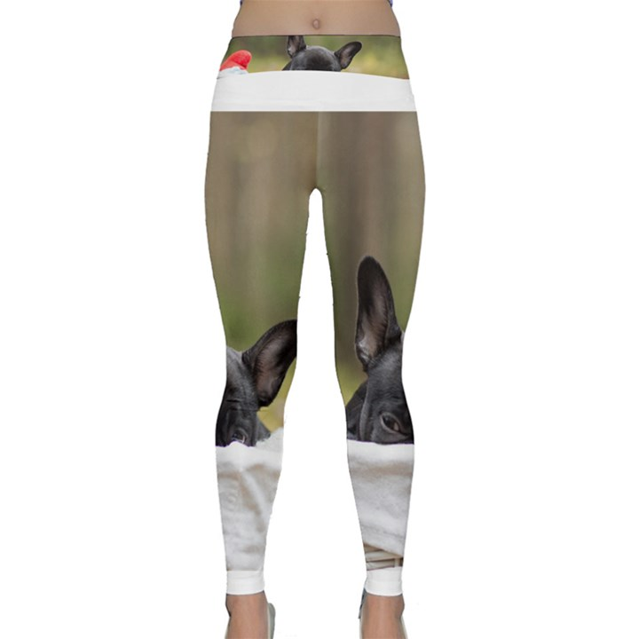 French Bulldog Peeking Puppy Yoga Leggings