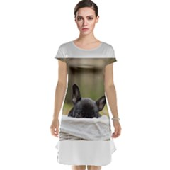 French Bulldog Peeking Puppy Cap Sleeve Nightdress