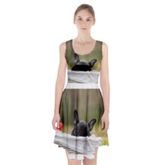 French Bulldog Peeking Puppy Racerback Midi Dress