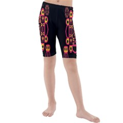 Alphabet Shirt Kids  Mid Length Swim Shorts