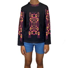 Alphabet Shirt Kids  Long Sleeve Swimwear