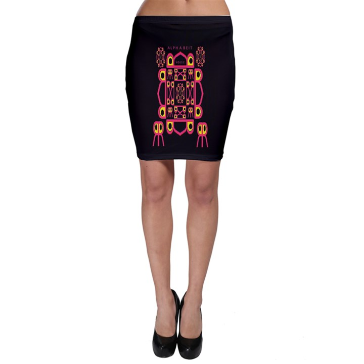 Alphabet Shirt Bodycon Skirt