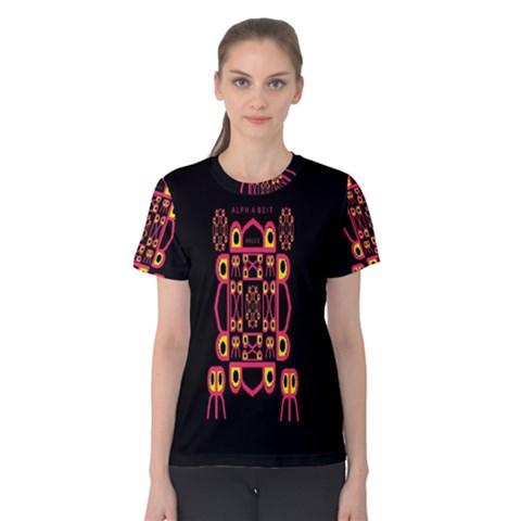Alphabet Shirt Women s Cotton Tee