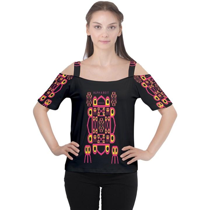 Alphabet Shirt Women s Cutout Shoulder Tee