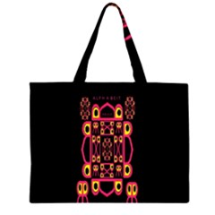Alphabet Shirt Large Tote Bag