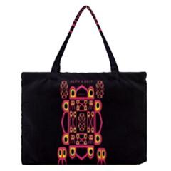 Alphabet Shirt Medium Zipper Tote Bag