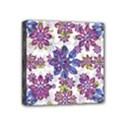 Stylized Floral Ornate Pattern Mini Canvas 4  x 4  View1