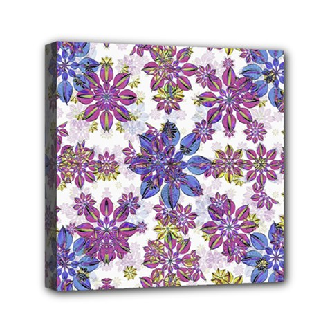 Stylized Floral Ornate Pattern Mini Canvas 6  x 6