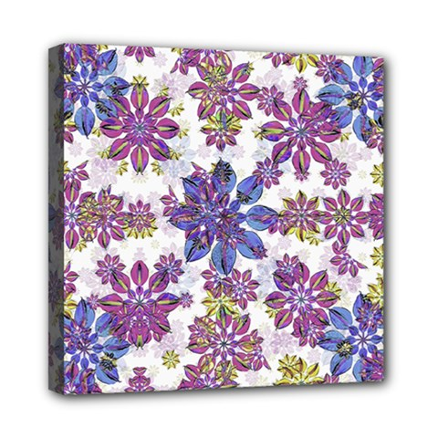 Stylized Floral Ornate Pattern Mini Canvas 8  x 8
