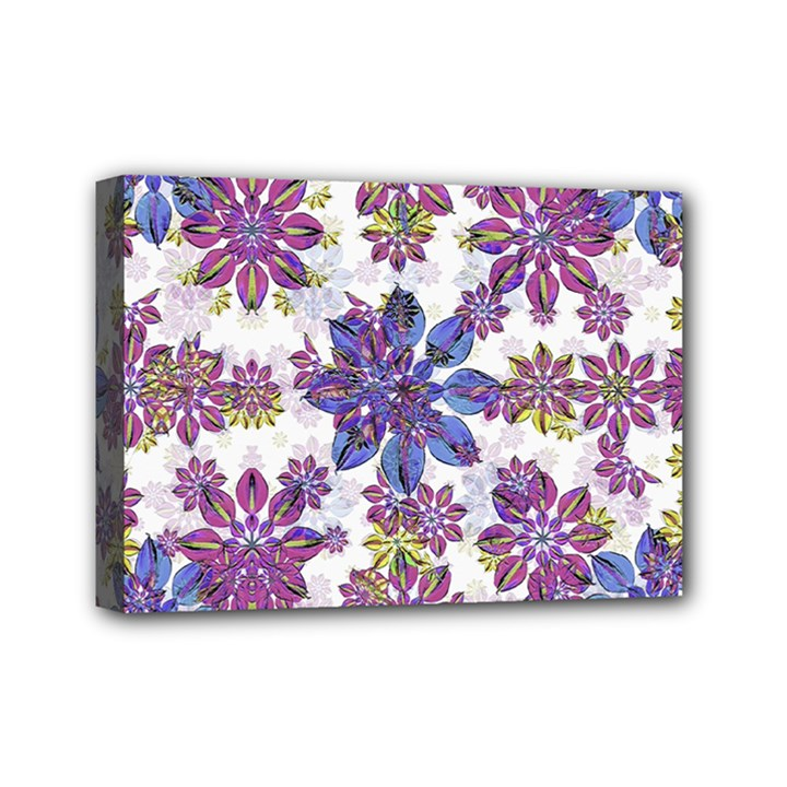 Stylized Floral Ornate Pattern Mini Canvas 7  x 5