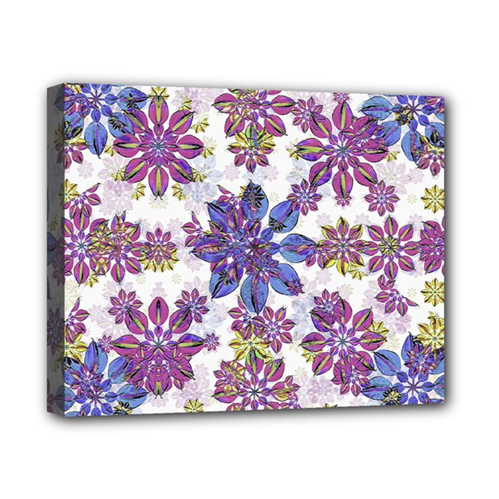 Stylized Floral Ornate Pattern Canvas 10  x 8