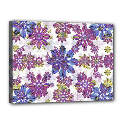 Stylized Floral Ornate Pattern Canvas 16  X 12
