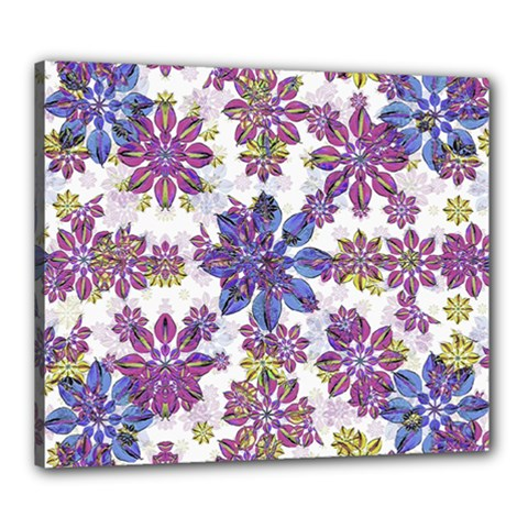 Stylized Floral Ornate Pattern Canvas 24  x 20
